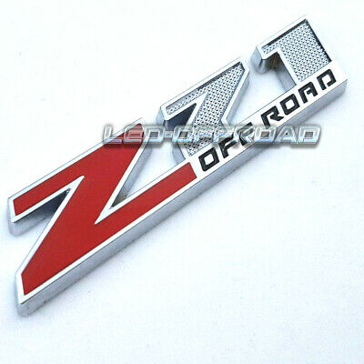 $9.13 • Buy Red Z71 Off Road Front Grille Emblem Decal Badge For GMC Chevy Silverado Sierra