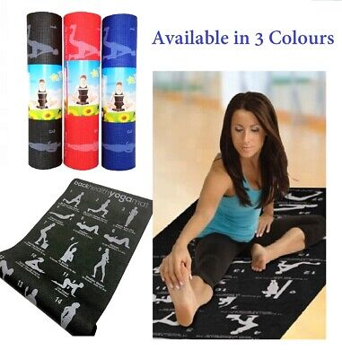 AU27.95 • Buy Yoga Mat With Illustrated Instructions