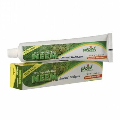 Neem Advance Toothpaste 100% Vegetable Base | Fluoride Free (Pack Of 6) • 25.03£