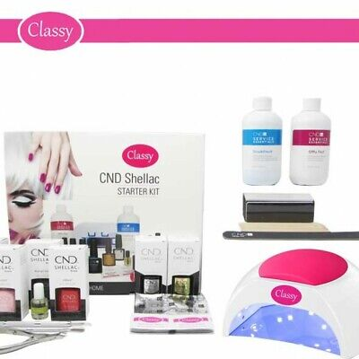 £129.95 • Buy CND Shellac Deluxe Nail Gel Kit Classy 48W PRO LED Lamp 100% GENUINE FREE P&P