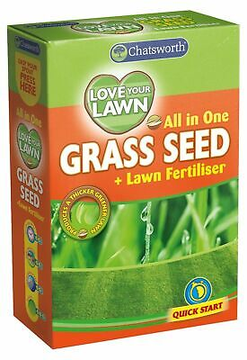 £5.45 • Buy All In One Love Your Lawn Garden Grass Seed And Fertiliser Quick Growth Grass !