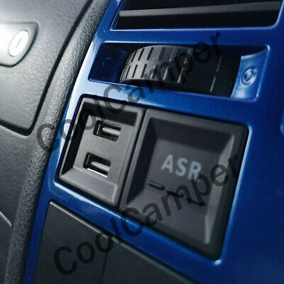 £24.99 • Buy Volkswagen VW T5 Camper Dual USB Phone Charger ASR Dash Blank Switch A - BLUE