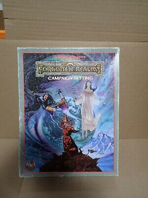 Forgotten Realms Campaign Setting (TSR 1085) AD&D Box With One Booklet, Map • 15.31£