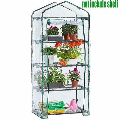 4 Tier Mini Greenhouse Walk In Grow Bag Green House PVC Cover Plastic Cover Only • 11.99£