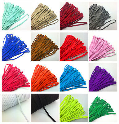 $ CDN12.82 • Buy 30M 1/4  6mm Thickening Satin Elastic Band Trim Sewing Spandex Lace Pick Color