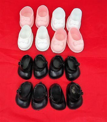 Cinderella Doll Shoes 4 Pairs For Small Dolls, Sizes 04 & 05 • 7£