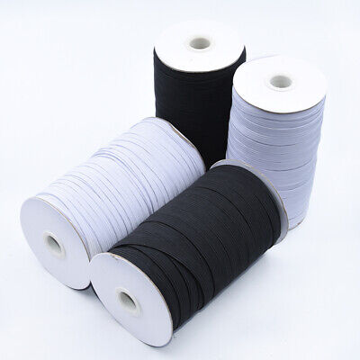 $ CDN14.10 • Buy Elastic Band 1/4 Inches Width (6mm) White/Black 5 Yard To 200 Yard Free Shipping