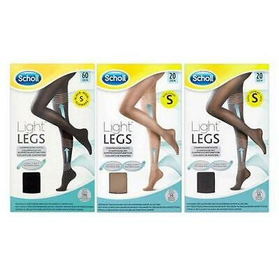 Scholl Light Legs Compression Tights - 20/60 Den | S/M/L - Choose Your Colour • 7.99£