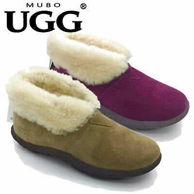 AU39 • Buy MUBO UGG MENS/LADIES WOMEN Sheepskin Unisex Mallow Home Slippers Scuffs #SN5257
