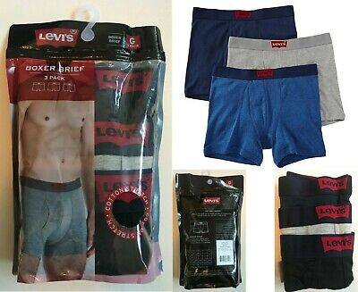 Levi's Men's 3 Pack BOXER Brief The 200SF Series Multicolor S-M-L-XL Clearance  • 15.99£