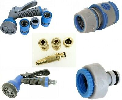 Rolson High Quality Garden Hose Pipe Spray Gun Connectors & Fittings Push Fit • 2.99£