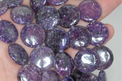 $10.99 • Buy 20MM Purple Lepidolite Gemstone Grd AA Flat Round 8 Inch (90187863-658)