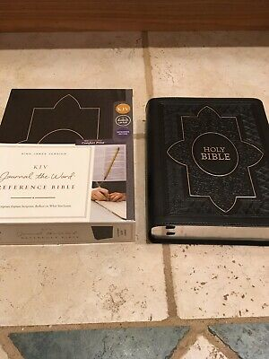 AU36.38 • Buy Kjv Journal The Word Reference Bible Red Letter  Black Leather Soft