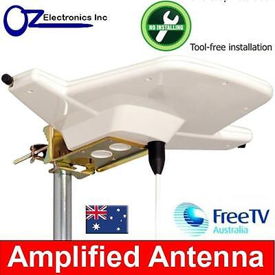 AU49 • Buy Powerful Indoor Amplified Antenna UHF VHF FM 4 AUSTRALIAN For House & Apartments