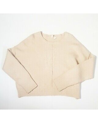 $ CDN29.50 • Buy Moth Size M Ivory Cotton Wool Blend Pullover Sweater Cropped Anthropologie