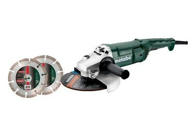 AU231.73 • Buy Metabo 2200 W 9in / 230mm Angle Grinder In Carton With 2 Diamond Blades 110v
