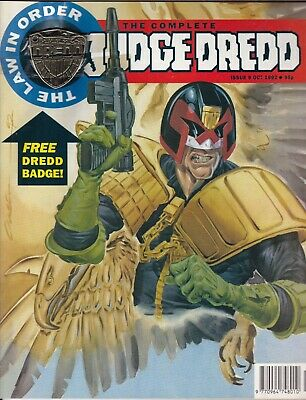 THE COMPLETE JUDGE DREDD #9  October 1992 - Free Gift Badge Still Intact! • 18.99£