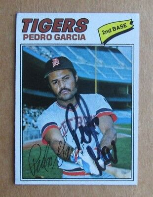 $3.99 • Buy 1977 Topps Baseball Pedro Garcia #453 Autographed Signed Card Detroit Tigers