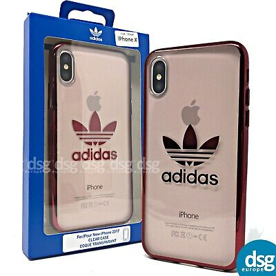 AU36.05 • Buy Adidas Case For Apple IPhone X XS - Classic Clear Transparent Cover - Red