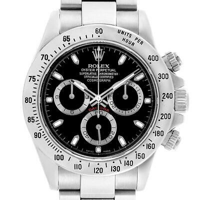 $ CDN26886.52 • Buy Rolex Daytona Black Dial Chronograph Stainless Steel Mens Watch 116520