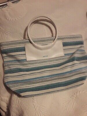 Ladies Smallish Beach Bag Blues And White Make Mexx • 3.40£