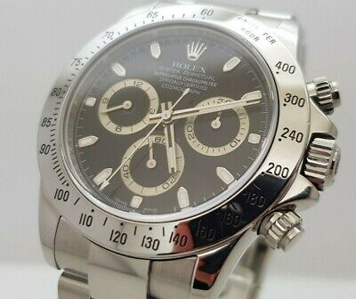 $ CDN25230.55 • Buy Rolex Cosmograph Daytona S/Steel Automatic 116520 Black Dial (M Serial)