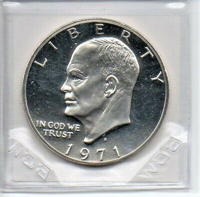 $26.24 • Buy 1971-S Eisenhower Silver One Dollar Proof  IKE  Coin As Pictured