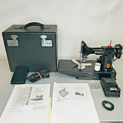 $390 • Buy Vintage 1946 Singer Featherweight 221-1 Portable Sewing Machine AG615765