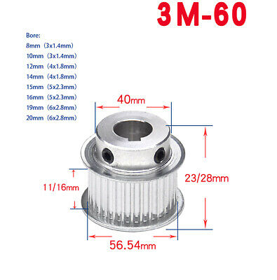AU12.25 • Buy HTD 3M 60 Teeth Timing Belt Pulley BF-Type For Engraver Cutter/CNC/Step Motor
