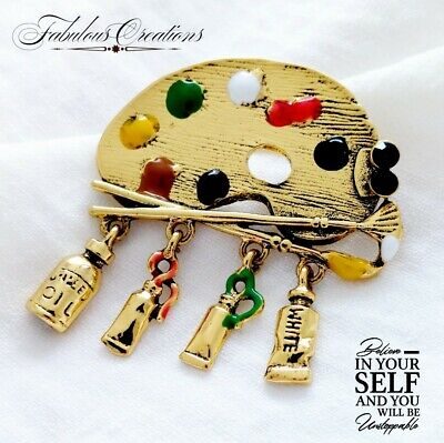£4.20 • Buy Vintage Style Gold Bumble Bee Green Enamel Crystal Brooch Broach Insect UK