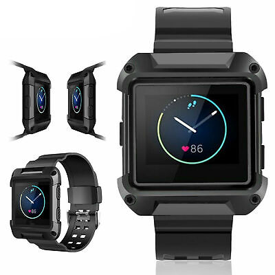 AU8.52 • Buy Black Armor Replacement Large Wristband Watch Band Strap+Frame For FITBIT BLAZE
