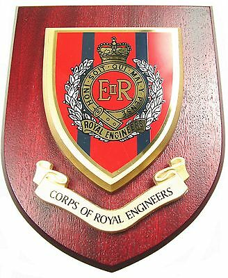 Corps Of Royal Engineers Classic Hand Made In The Uk Regiment Wall Plaque • 19.99£