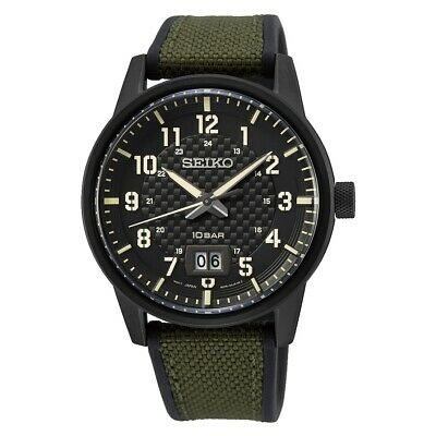 $ CDN198.99 • Buy Seiko Quartz Black Dial Men's Watch SUR325P1