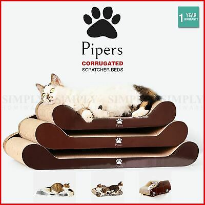 AU24.49 • Buy Pipers Cat Scratcher Cardboard Bed Lounge Sofa Pet House Post Board Small Large