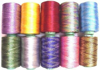 10 FLORA Variegated RAYON Embroidery Thread Brother Juki Janome 984Y RM3 #6HQ63 • 12.99£