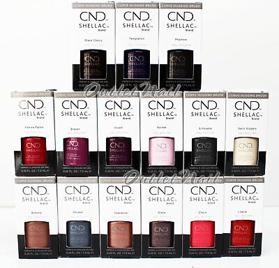 AU18.02 • Buy CND Shellac EXCLUSIVE SHADES UV Gel Nail Polish Base Top - Pick ANY Color