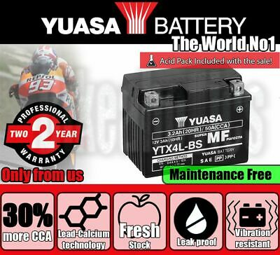 Yuasa YTX4L-BS Battery For TGB Scooters • 30.99£