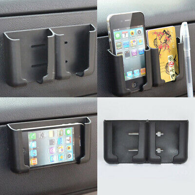 $4.89 • Buy 1x Black Car Accessories Cell Phone Card Holder Stand Cradle Console Bracket Box