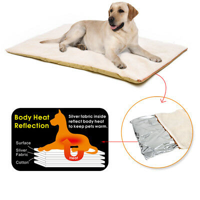 AU29.99 • Buy Self-Heating Dog Heated Mattress Crate Pad Bed Large Pet Soft Washable Cushion