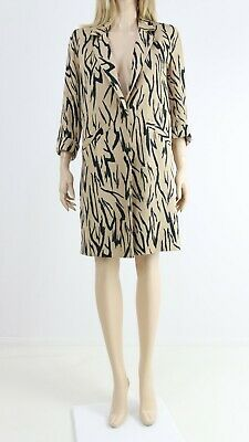 River Island NEW Zebra Print Midi Casual Open Front Duster Jacket UK 6 To 16 £69 • 27.99£