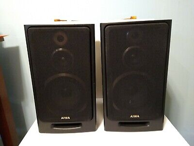 $37.49 • Buy Aiwa SX-N3  3 Way Bass Reflex Bookshelf Speakers Tested