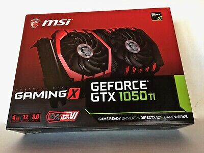 $ CDN441.25 • Buy MSI NVIDIA GeForce GTX 1050 Ti 4GB Gaming Graphics Card Twin Fan DirectX Ready