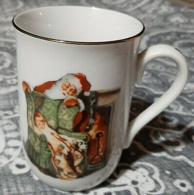 $ CDN7.65 • Buy Norman Rockwell  Waiting For Santa  1985 Christmas Mug NR Museum