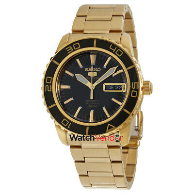 $ CDN299.99 • Buy Seiko 5 Automatic Black Dial Gold-tone Mens Watch SNZH60