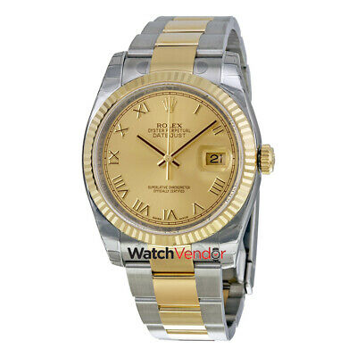 $ CDN13164.99 • Buy Rolex Oyster Perpetual Datejust Stainless Steel & 18K Gold Mens Watch 116233CRO