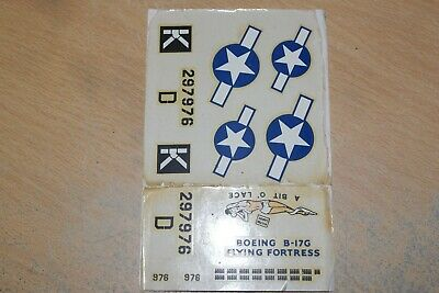 £7.99 • Buy Revell  1:72  Boeing B-17g Flying Fortress   Bit O Lace     Decals Only