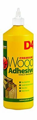 Everbuild D4 Wood Adhesive - Solvent Free Wood Adhesive - White - 1 Litre • 12.99£