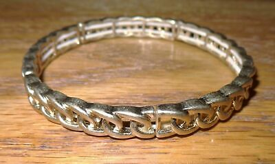 $ CDN11.55 • Buy Lia Sophia Intertwined Stretch Bracelet Matte Gold Plated Nice! Never Worn