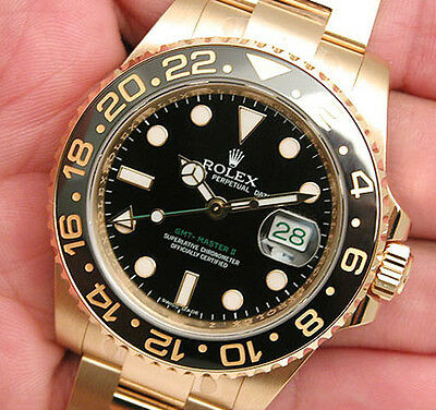 $ CDN37445.33 • Buy Rolex GMT Master II 116718 Yellow Gold Black Ceramic Bezel 40mm Black Dial Watch