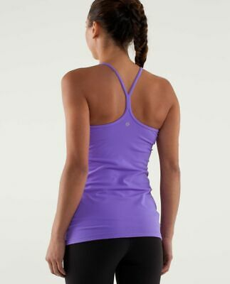 $ CDN36.50 • Buy Lululemon Purple Power Y Racerback Tank Size 4 Lavender Yoga Gym Running Scoop